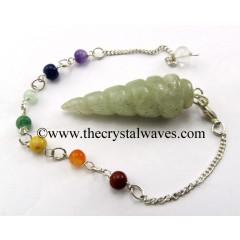 Prasiolite Spiral Pendulum With Chakra Chain