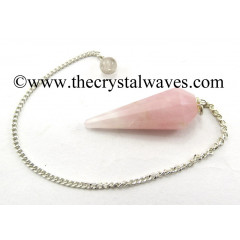 Rose Quartz 12 Facets Pendulum