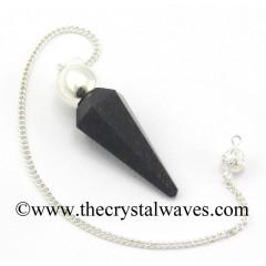 Blue Aventurine Faceted Silver Modular Pendulum