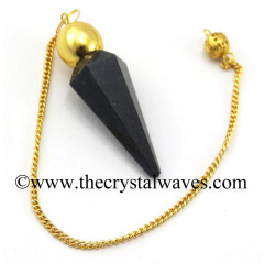 Blue Aventurine Faceted Gold Modular Pendulum