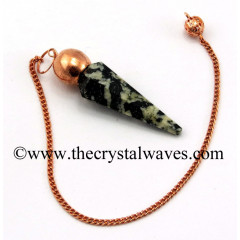 Black & White Tourmaline Faceted Copper Modular Pendulum