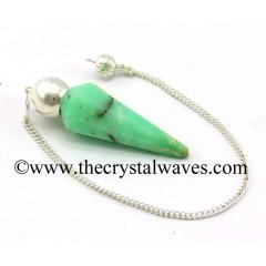 Chrysoprase Faceted Silver Modular Pendulum
