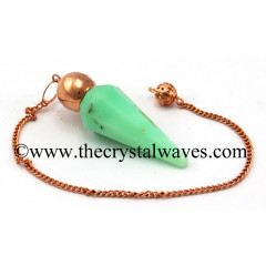 Chrysoprase Faceted Copper Modular Pendulum