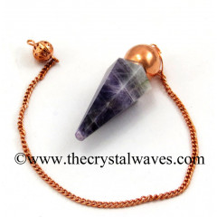 Chevron Amethyst Faceted Copper Modular Pendulum