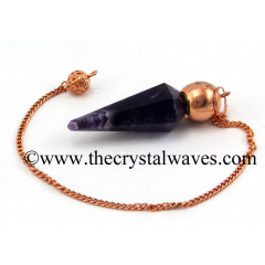 Amethyst Faceted Copper Modular Pendulum