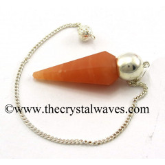 Red Aventurine Faceted Silver Modular Pendulum