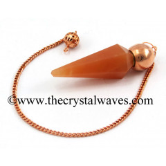 Red Aventurine Faceted Copper Modular Pendulum