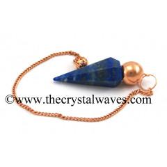 Lapis Lazuli Faceted Copper Modular Pendulum