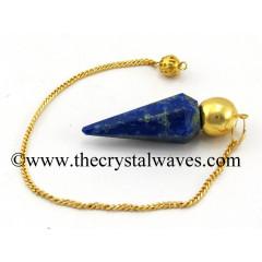 Lapis Lazuli Faceted Gold Modular Pendulum