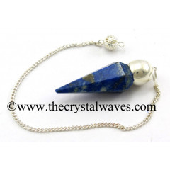 Lapis Lazuli Faceted Silver Modular Pendulum