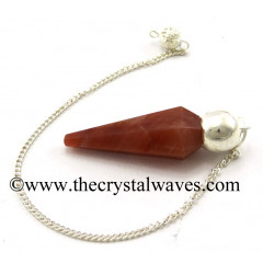 Peach Moonstone Faceted Silver Modular Pendulum