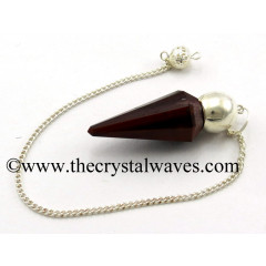 Red Tiger Eye Agate Faceted Silver Modular Pendulum
