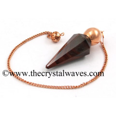 Red Tiger Eye Agate Faceted Copper Modular Pendulum