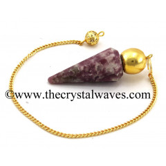 Lepidolite Faceted Gold Modular Pendulum