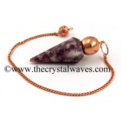 Lepidolite Faceted Copper Modular Pendulum