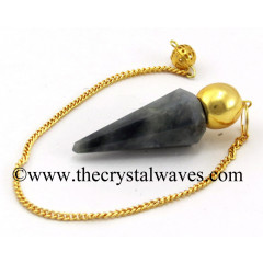Iolite Faceted Gold Modular Pendulum