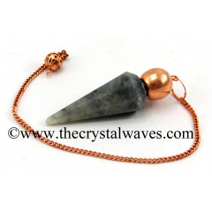 Iolite Faceted Copper Modular Pendulum
