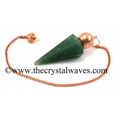 Green Aventurine (Dark) Faceted Copper Modular Pendulum