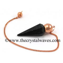 Nuummite / Coppernite Faceted Copper Modular Pendulum