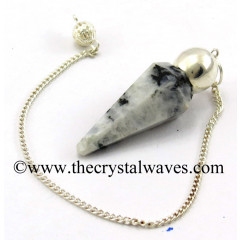 Rainbow Moonstone Faceted Silver Modular Pendulum