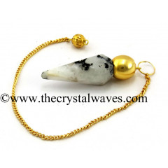 Rainbow Moonstone Faceted Gold Modular Pendulum