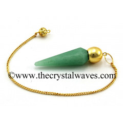 Green Aventurine Faceted Gold Modular Pendulum