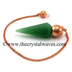 Green Aventurine Faceted Copper Modular Pendulum