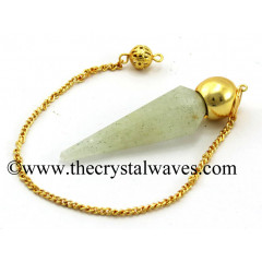 Prasiolite Faceted Gold Modular Pendulum