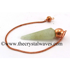 Prasiolite Faceted Copper Modular Pendulum