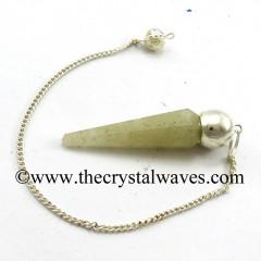 Prasiolite Faceted Silver Modular Pendulum