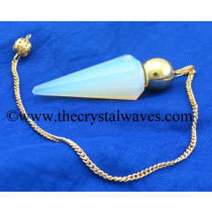 Opalite Faceted Gold Modular Pendulum