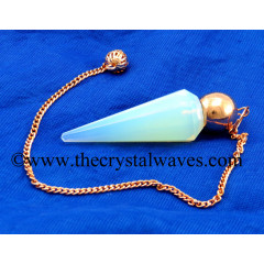 Opalite Faceted Copper Modular Pendulum