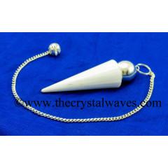 Scolecite Smooth Silver Modular Pendulum
