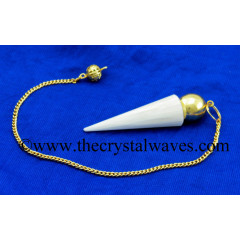 Scolecite Smooth Gold Modular Pendulum