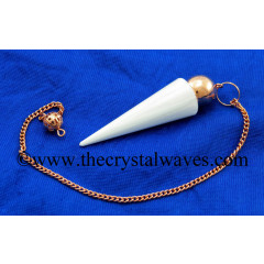 Scolecite Smooth Copper Modular Pendulum
