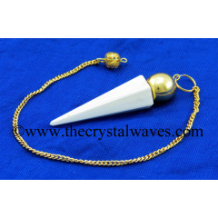 Scolecite Faceted Gold Modular Pendulum