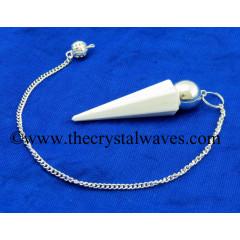 Scolecite Faceted Silver Modular Pendulum