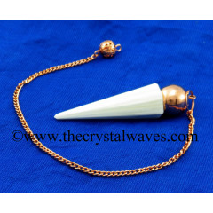 Scolecite Faceted Copper Modular Pendulum
