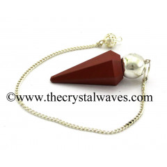 Red Jasper Faceted Silver Modular Pendulum