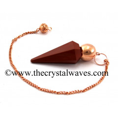 Red Jasper Faceted Copper Modular Pendulum