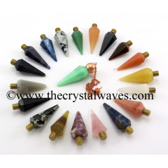 Mix Assorted Gemstone Faceted Copper Modular Pendulum
