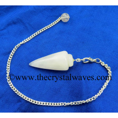 Snow Quartz Smooth Pendulum