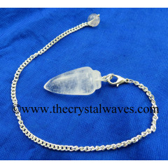 Crystal Quartz B Grade Smooth Pendulum