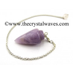 Chevron Amethyst Smooth Pendulum