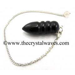 Black Agate Egyptian Style Pendulum
