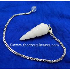Snow Quartz Spiral pendulum
