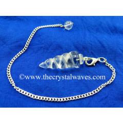 Crystal Quartz Spiral pendulum