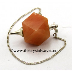 Red Aventurine Hexagonal Pendulum