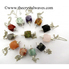 Mix Assorted Gemstones Hexagonal Pendulum