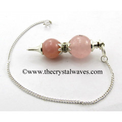 Rose Quartz Ball 2 Pc Pendulum